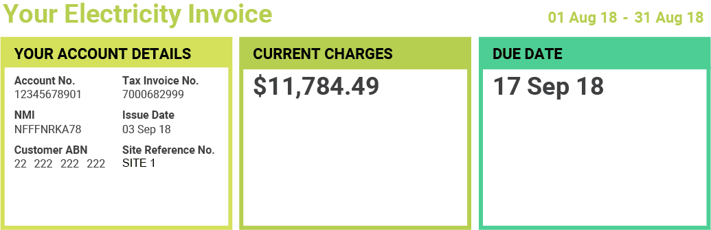 Electricity Invoice