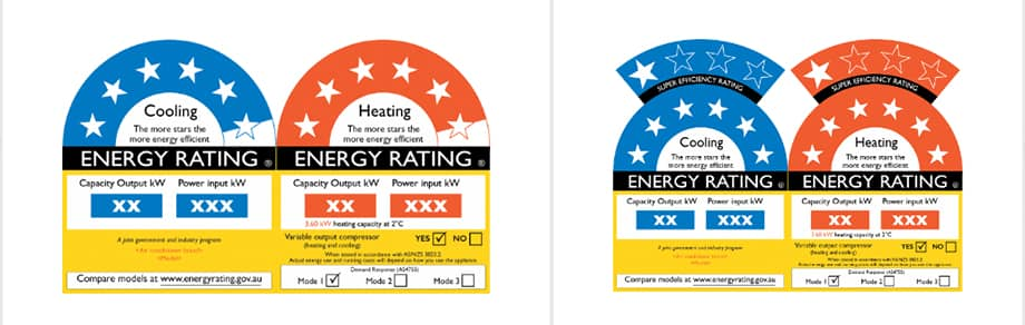 Energy Efficiency Rating Label for Air Conditioners